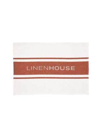 Linen House Rust Tea Towel