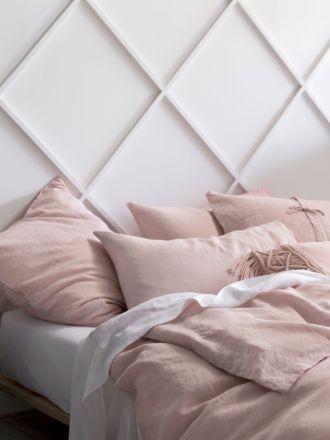 Nimes Rose Linen Quilt Cover Set