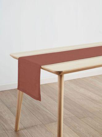 Nimes Rust Linen Table Runner
