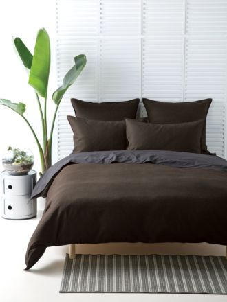 Waffle Chocolate Quilt Cover Set