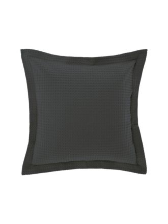 Deluxe Waffle Charcoal European Pillowcase
