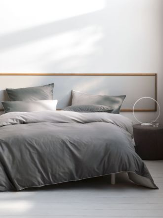 Newman Charcoal Quilt Cover Set