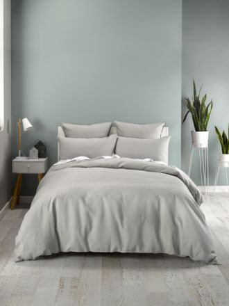 Waffle Silver Quilt Cover Set