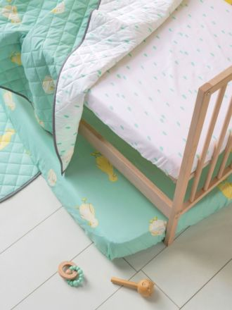 Ducklings Cot Fitted Sheet Set