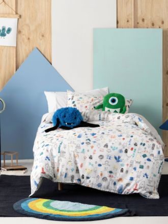 Little Monsters Quilt Cover Set