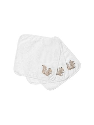 Sammy Squirrel Face Washer Set