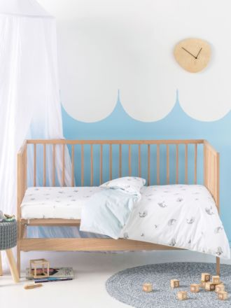 Whale Of A Time Cot Quilt Cover