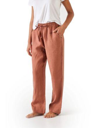 Nimes Rust Linen Pants