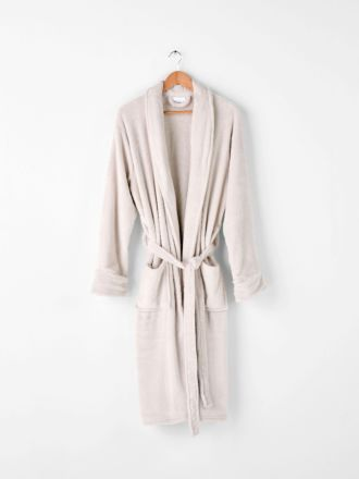 Plush Cream Robe