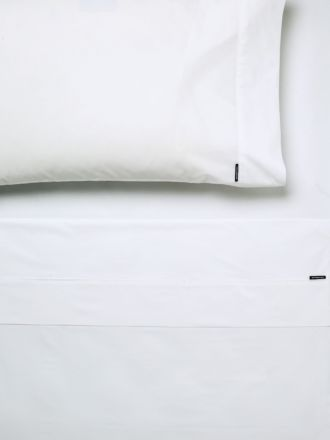 250TC Cotton Percale White Flat Sheet