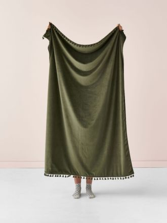 Belmore Olive Throw