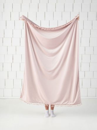 Belmore Pink Champagne Throw