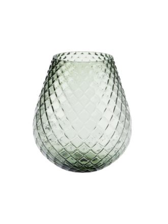 Bulb Green Vase 19cm