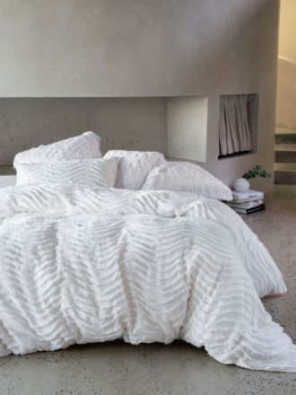 Drift White Quilt Cover Set