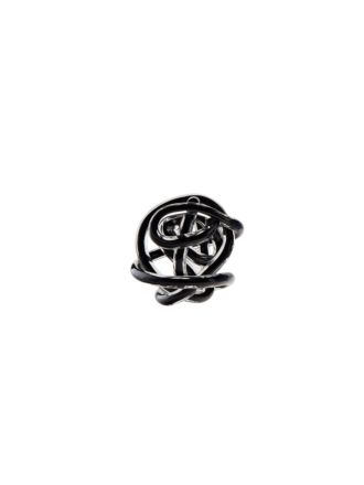 Glass Knots Black Décor 12cm