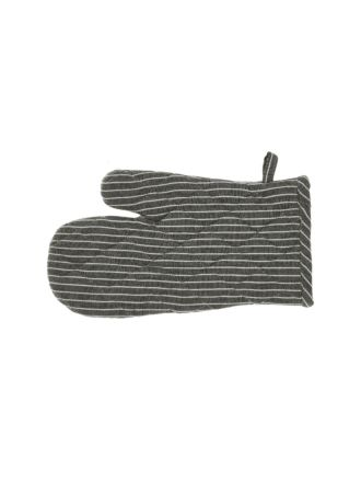 Grey Stripe Oven Glove