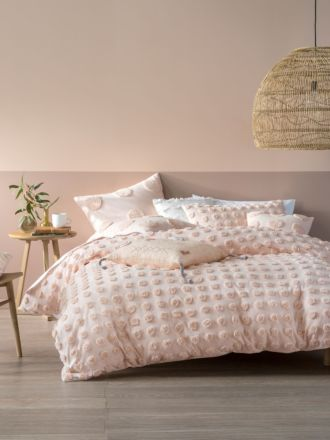 Haze Peach Quilt Cover Set