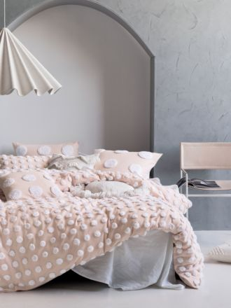 Haze Pink/White Quilt Cover Set