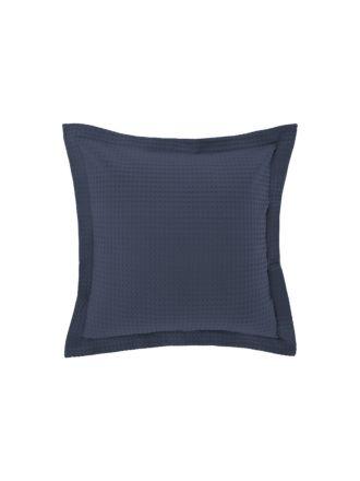 Deluxe Waffle Bluestone European Pillowcase