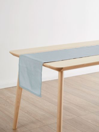 Nimes Blue Linen Table Runner