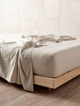 Nimes Natural Linen Fitted Sheet 50cm