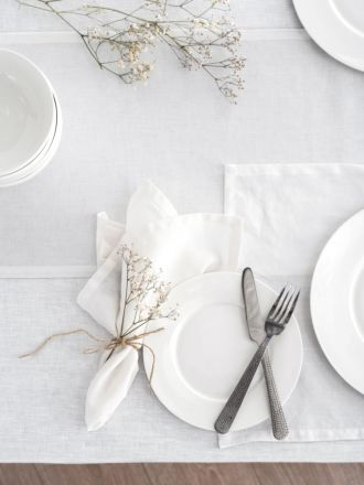 Nimes White Linen Placemat
