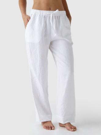 Nimes White Linen Pyjama Pants
