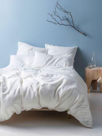 Nimes White Linen Quilt Cover Set
