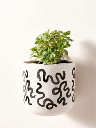 Paterna Black Squiggle Planter Pot 15cm