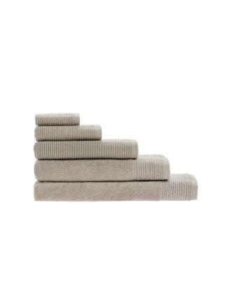Riba Taupe Towel Collection