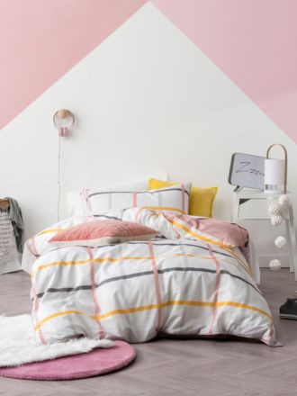 Riley Pink Quilt Cover Set