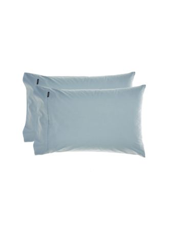 Winton Mid-Blue Standard Pillowcase Pair