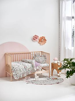 Happy Meadow Cot Quilt Cover