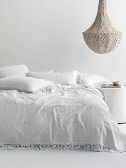 Shani White Bed Cover
